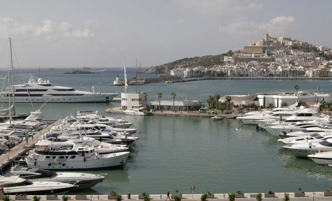 Marina Ibiza positioned in the lovely Spanish yacht charter destination - Ibiza