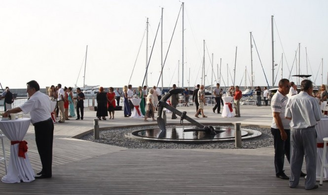 Marina clients, invited guests and local dignitaries at the VIP reception at Karpaz Gate Marina