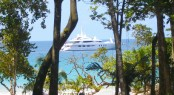Megayacht at Red Frog Beach