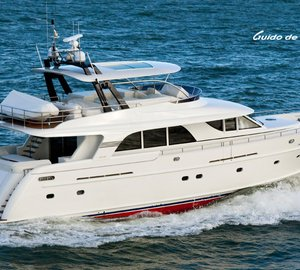 Guido de Groot designed Mulder 73 Flybridge motor yacht BOONOOROO II arrives in Australia