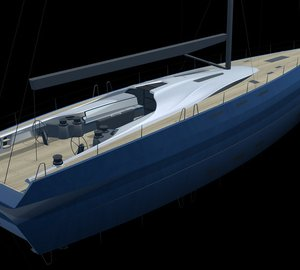 Sailing yacht INFINITI 100 S with interior design by Design Unlimited