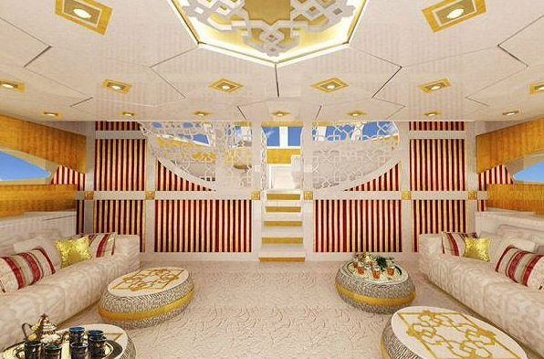 New interior design for the Middle East presented by Sunreef Yachts