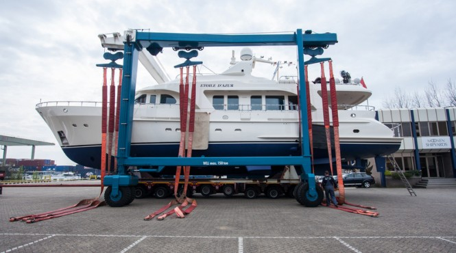 Newly refitted Moonen 84 Yacht Etoile d'Azur at Moonen Shipyards