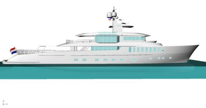 Project Beach yacht concept - side view