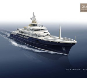 Hakvoort mega yacht Project ZEUS with naval architecture by Diana Yacht Design