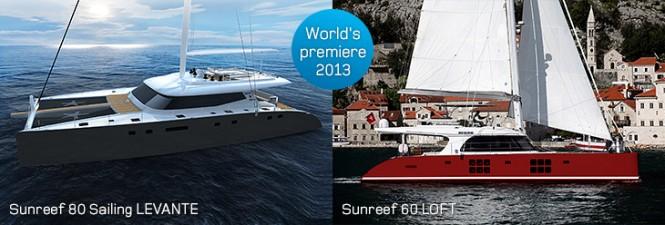 Sunreef 80 superyacht Levante and Sunreef 60 yacht Loft