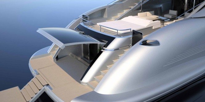 Superyacht ISA 140 - beach area