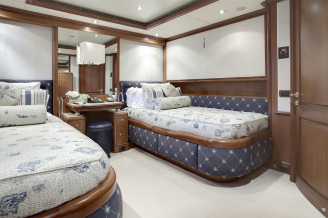 Superyacht JO - Ralph Lauren Guest Twin Room