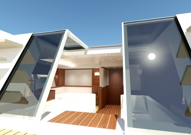 Luxury sailing yacht Swan 105 RS - Aft Cabin looking forward
