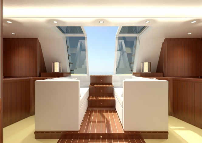 Swan 105 RS yacht - Aft Cabin looking aft