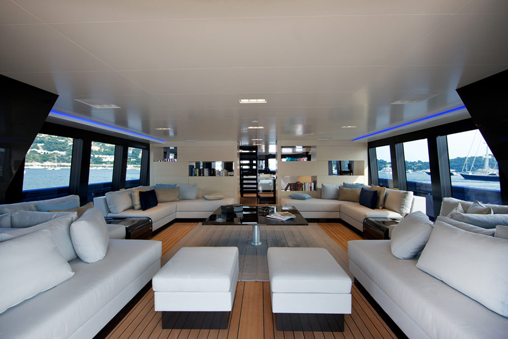 wally superyacht better place interior yacht charter