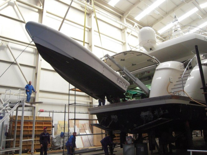 Works on the refit of Phoenix Yacht