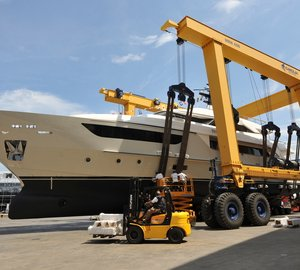Eighth SD122 motor yacht THERAPY launched by Sanlorenzo