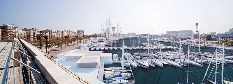 Marina port vell in the lovely spanish yacht charter for Oneocean club barcelona