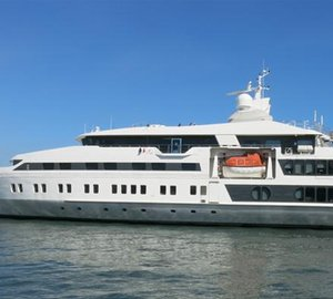 227ft motor yacht SALUZI under refit at Horizon to be re-launched in August