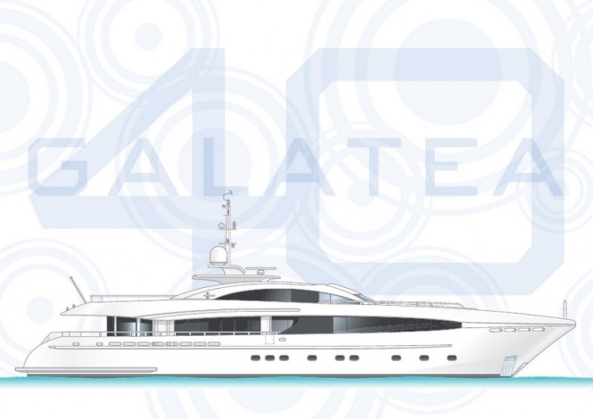 40m luxury motor yacht Project Galatea by Heesen