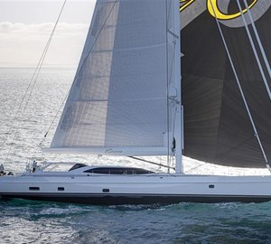Alloy Yacht ENCORE featuring full inventory of Doyle sails