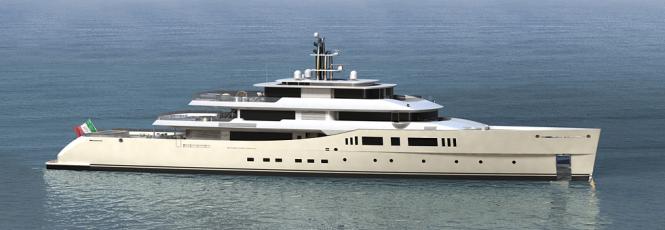 73m Vitruvius series motor yacht Grace E by Perini Navi