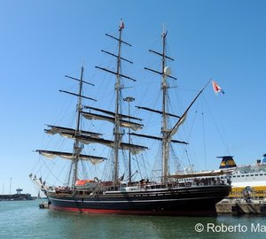 Photos of 75m Tall Ship STAD AMSTERDAM in Tuscany, Italy