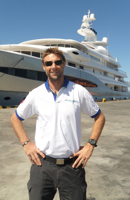 APS Indonesia Richard Lofthouse at Bali harbour