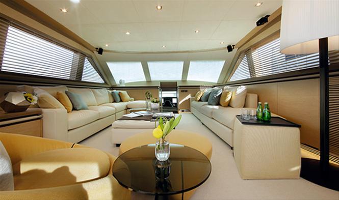 Aboard superyacht AGORA