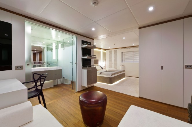 Aboard superyacht Diamond