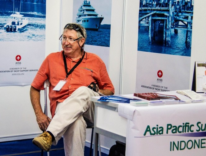Captain Jimmy from APS Indonesia at Indonesia Yachts Show 2013