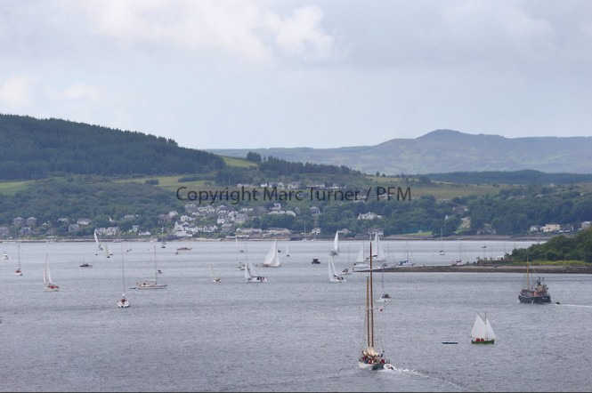 Fife Regatta Day 3, Cruise up the Kyles of Bute to Tighnabruaich - Photo credit Marc Turner /PFM