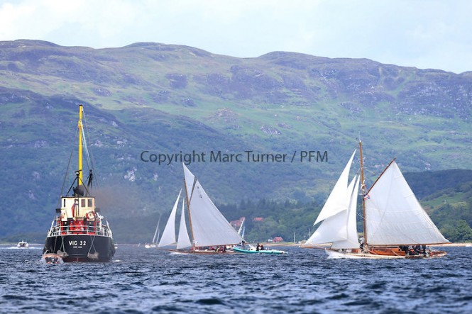 Day three of the Fife Regatta, Cruise up the Kyles of Bute to Tighnabruaich - Photo credit Marc Turner /PFM