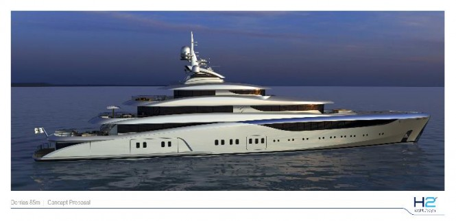 Dorriem Maritime Services' first 85m platform for motor yacht Graceful now ready