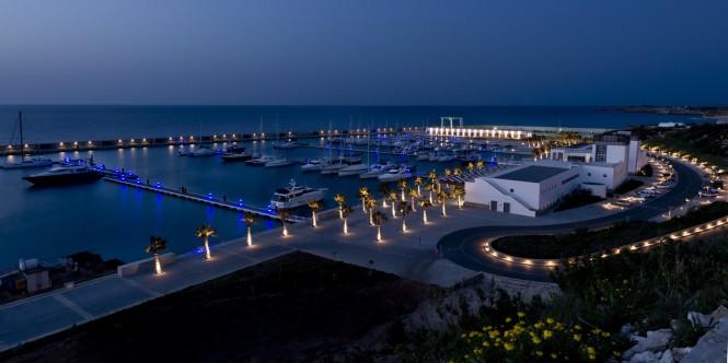 Karpaz Gate Marina is captured at night by Brazilian photographer Dudu Tresca