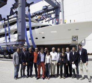 Ferretti Custom Line launch Navetta 33 Crescendo motor yachts Hull # 13 and Hull # 14