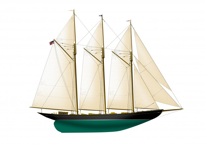 Luxury classic yacht Wolfhound