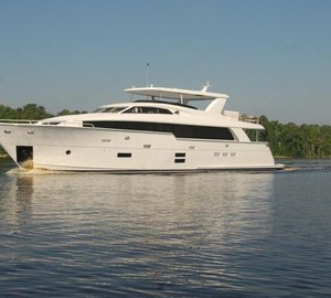 All-new motor yacht Hatteras 100RPH hit the water