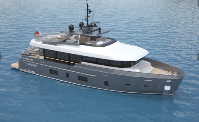 Luxury superyacht Discovery 88 concept