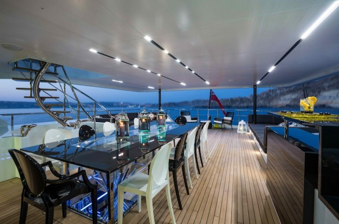 Luxury superyacht Ocean Paradise - Al Fresco Dining