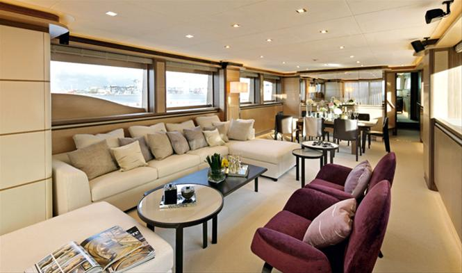 Luxury yacht AGORA - Saloon