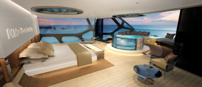 Luxury yacht Anaconda concept - Owners Cabin