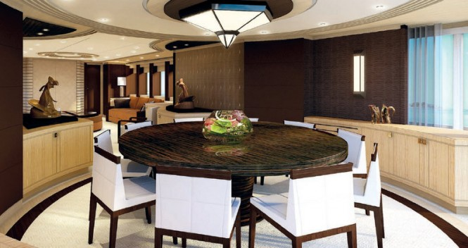 Luxury yacht Project Galatea - Dining