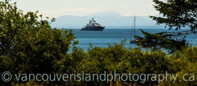 Mega yacht SERENE - Photo by Viktor Davare - Vancouver Island Photography