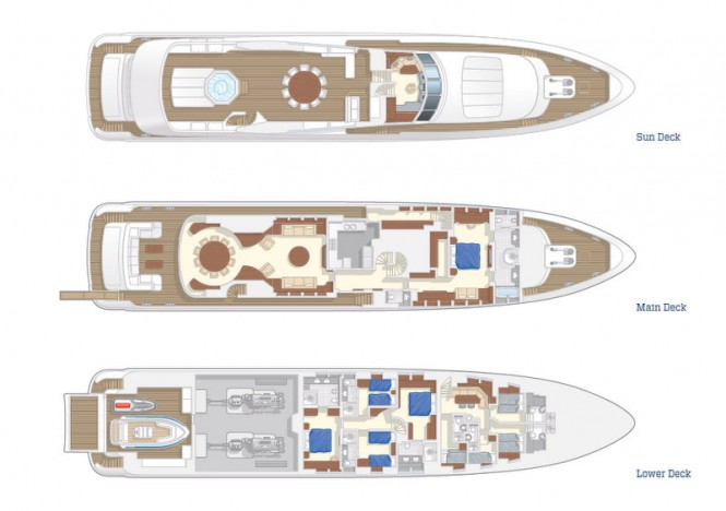Project Galatea Yacht - Layout