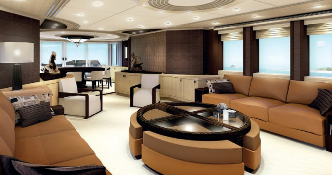 Project Galatea Yacht - Saloon
