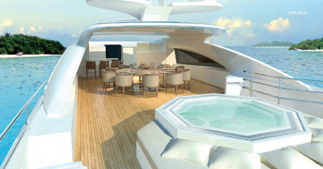 Project Galatea Yacht - Sun Deck