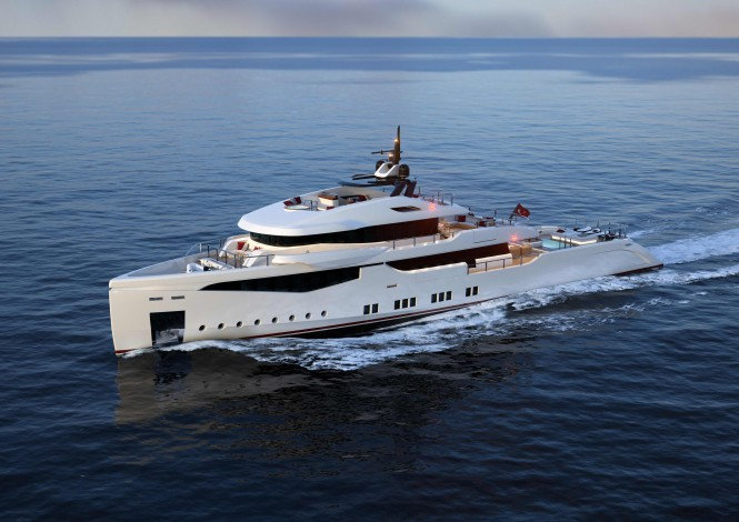 RMK 5000 Explorer Yacht Concept to be unveiled at MYS 2013 by RMK Marine and Hot Lab