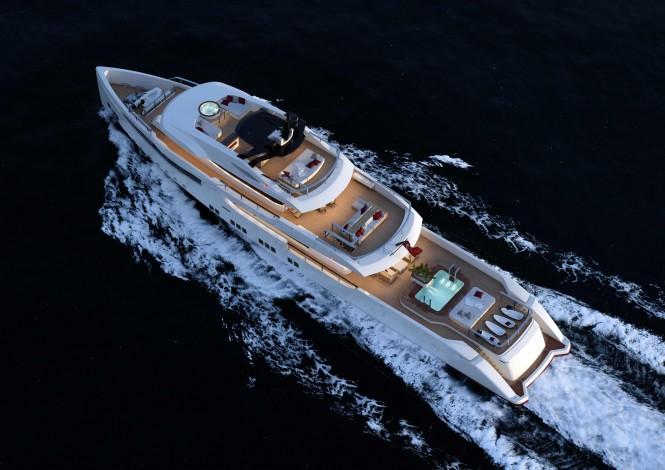RMK 5000 Explorer superyacht concept - Upview