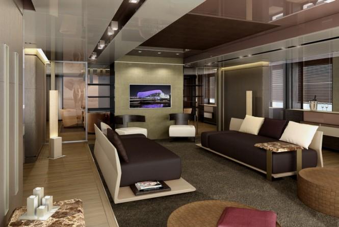 RMK 5000 Explorer yacht concept - Saloon