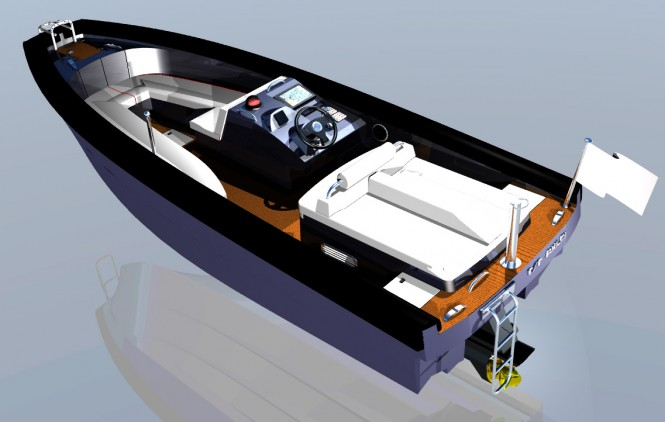Rendering of new TS56 Yacht Tender