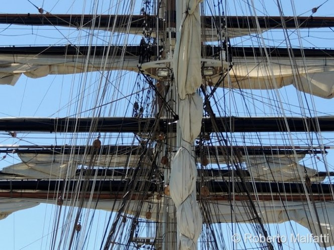 STAD AMSTERDAM clipper yacht - sails  - Photo by Roberto Malfatti