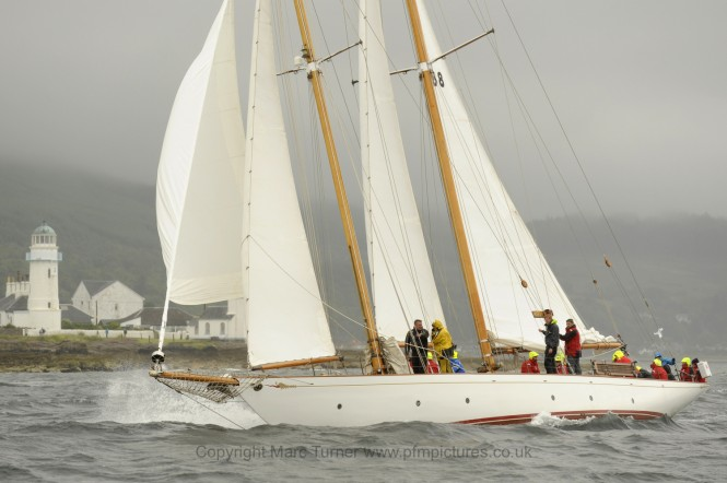Sailing yacht Astor on the Clyde Day 2 - Photo credit Marc Turner /PFM