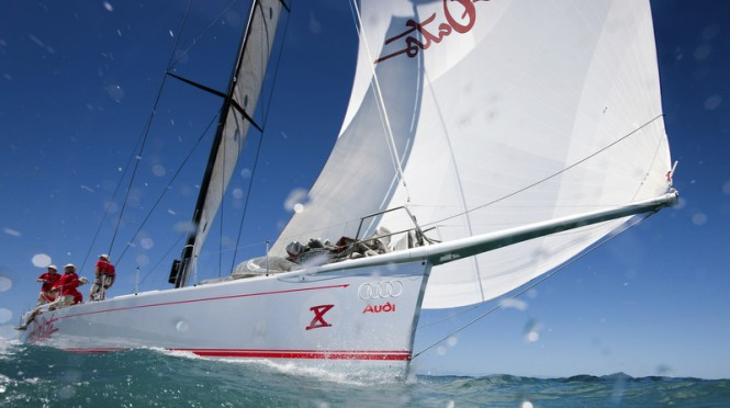 Sailing yacht Wild Oats X competing in Audi Hamilton Island Race Week 2009 - Photo by Andrea Francolini